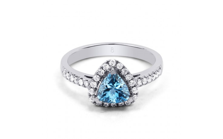 Blue Topaz Trillion Ring  product image 1