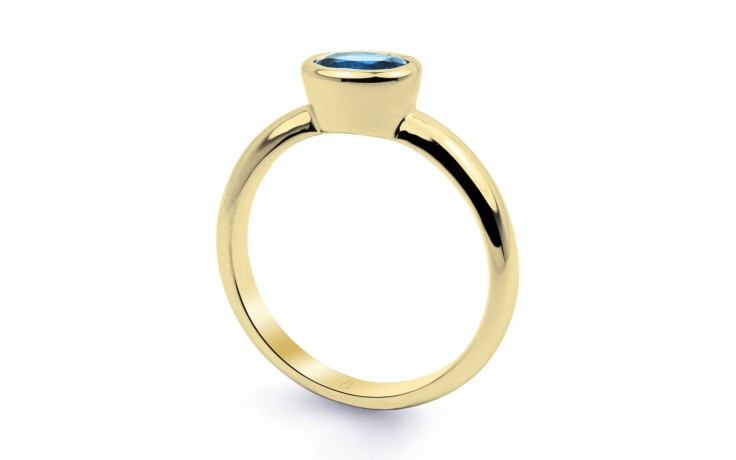 Blue Topaz Birthstone Gold Ring product image 2