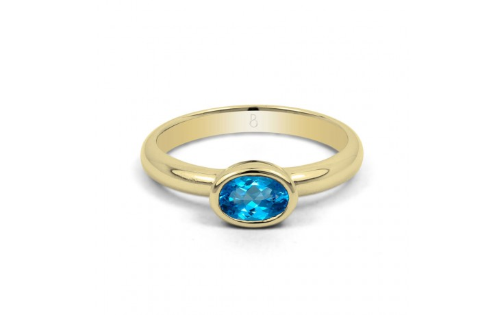 Blue Topaz Birthstone Gold Ring product image 1