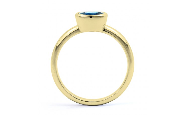 Blue Topaz Birthstone Gold Ring product image 3