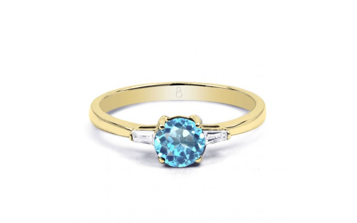 Blue Topaz & Diamond Gold Ring product image 1