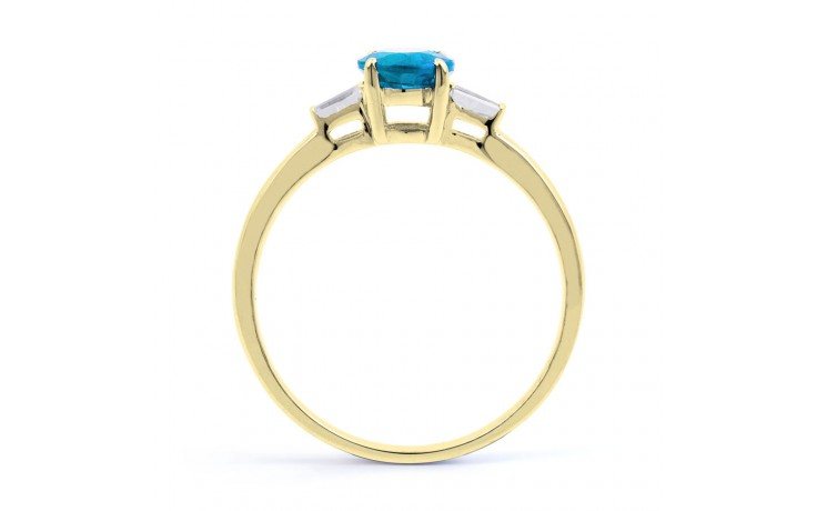 Blue Topaz & Diamond Gold Ring product image 3