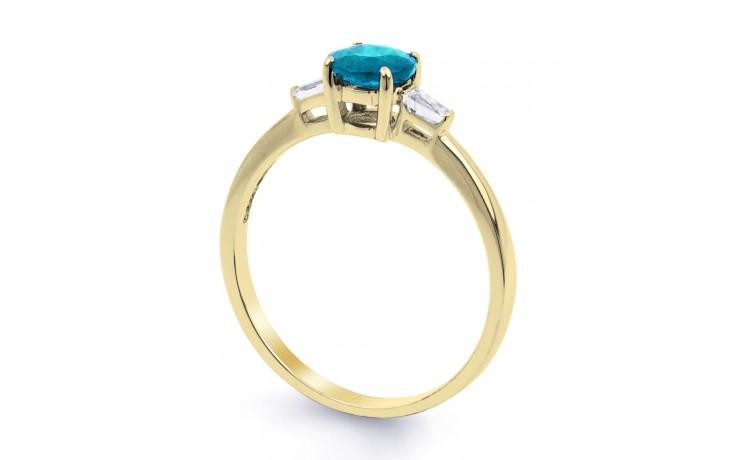 Blue Topaz & Diamond Gold Ring product image 2