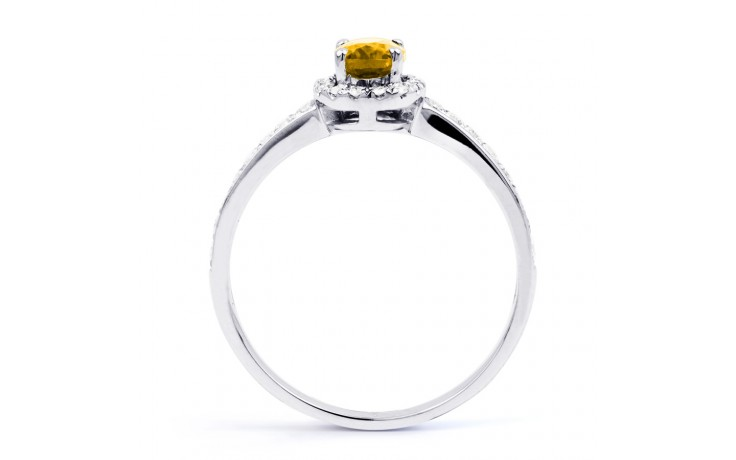 Allure Citrine Ring In White Gold product image 3