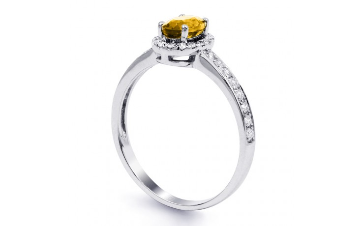 Allure Citrine Ring In White Gold product image 2