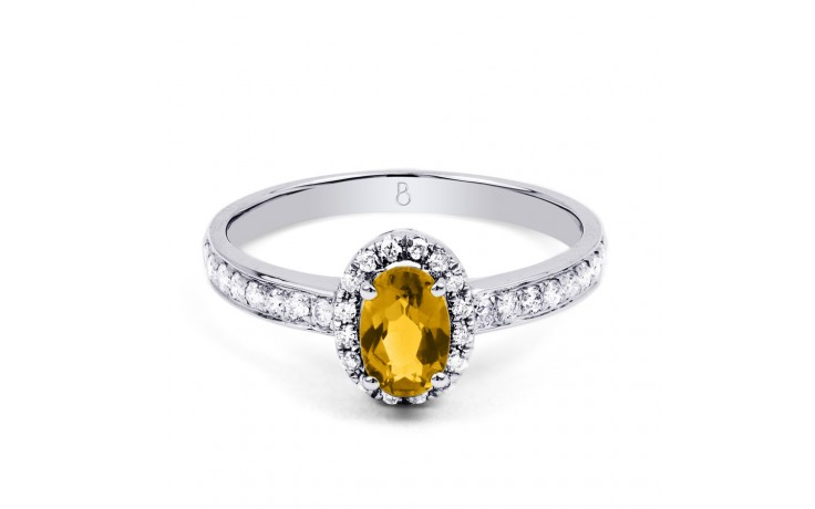 Allure Citrine Ring In White Gold product image 1