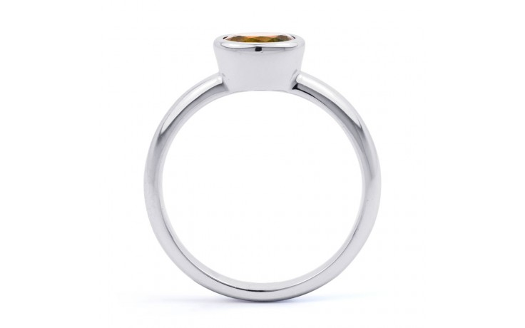 Citrine Birthstone White Gold Ring product image 3