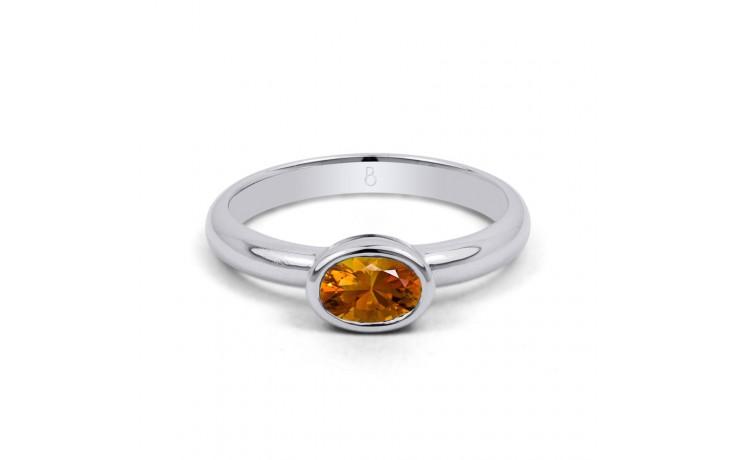 Citrine Birthstone White Gold Ring product image 1