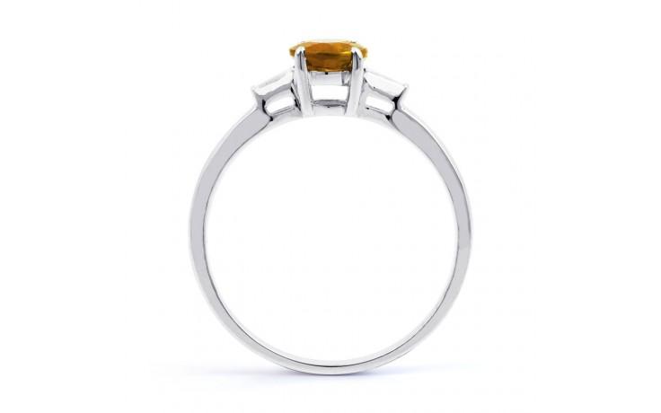 Citrine & Diamond White Gold Ring product image 3