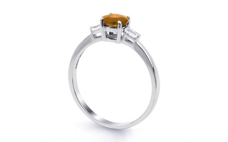 Citrine & Diamond White Gold Ring product image 2