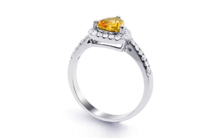 Citrine Trillion White Gold Ring  product image 2