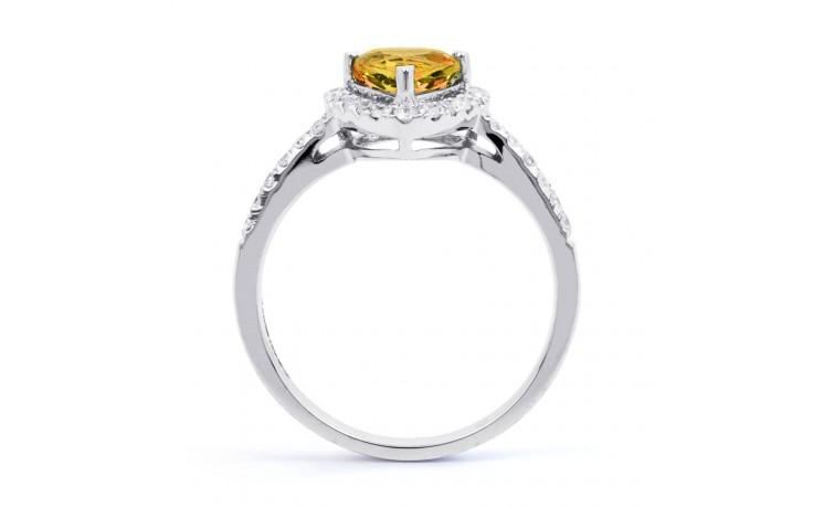 Citrine Trillion White Gold Ring  product image 3