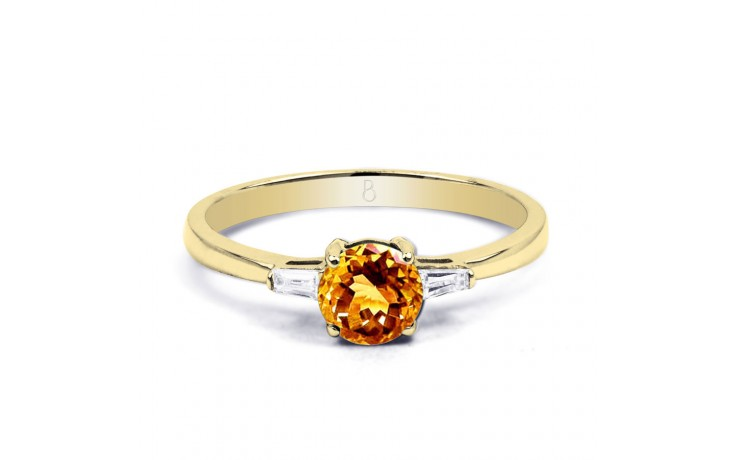 Citrine & Diamond Yellow Gold Ring product image 1