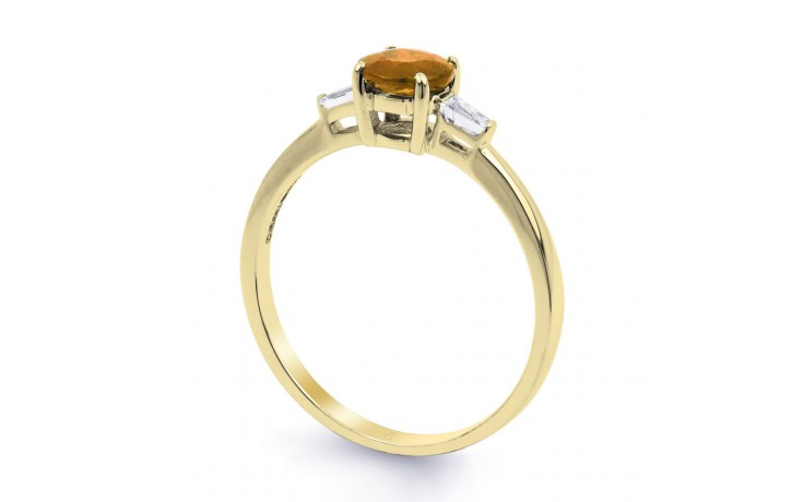 Citrine & Diamond Yellow Gold Ring product image 2
