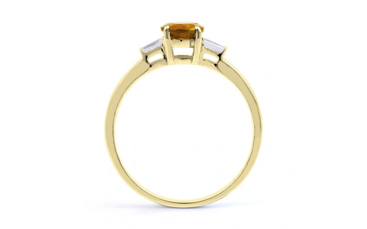 Citrine & Diamond Yellow Gold Ring product image 3
