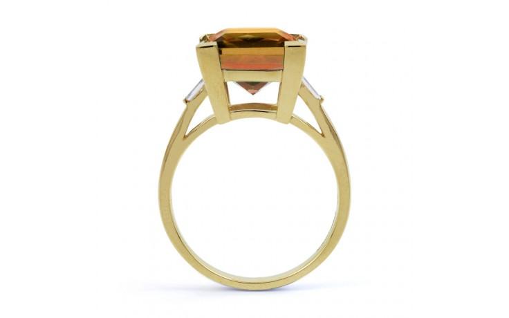 Citrine & Diamond Designer Gold Ring  product image 3