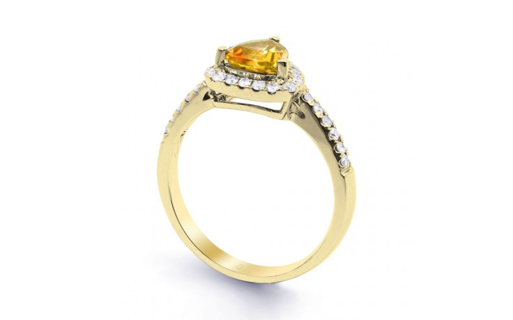 Citrine Trillion Yellow Gold Ring product image 2