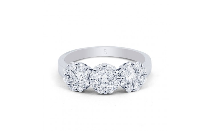 Three Stone Cluster Ring product image 1