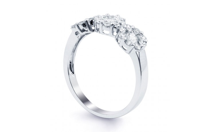 Three Stone Cluster Ring product image 2