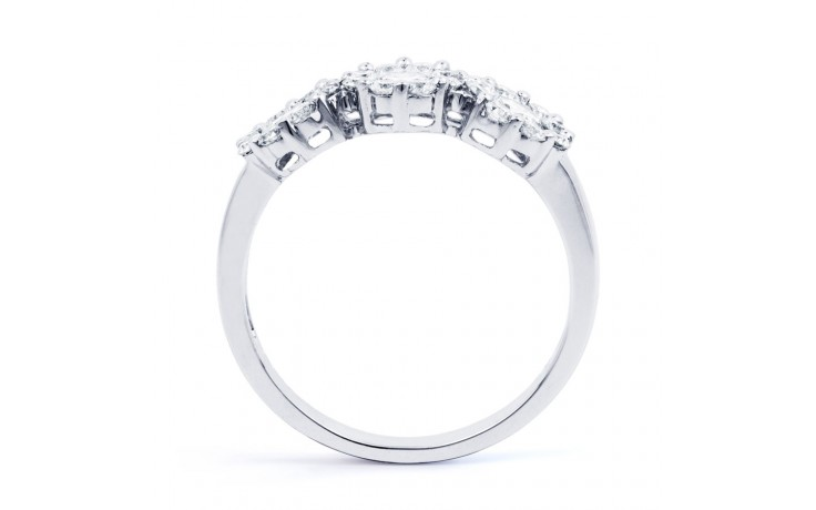 Three Stone Cluster Ring product image 3