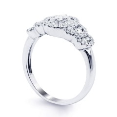 Fancy Diamond Cluster Ring in White Gold image 1