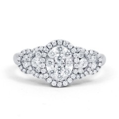 Fancy Diamond Cluster Ring in White Gold image 0