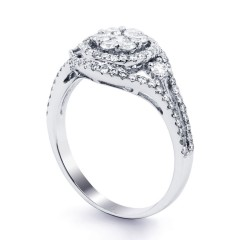 Diamond Cluster Engagement Ring image 1