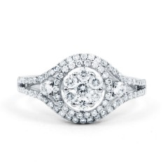 Diamond Cluster Engagement Ring image 0