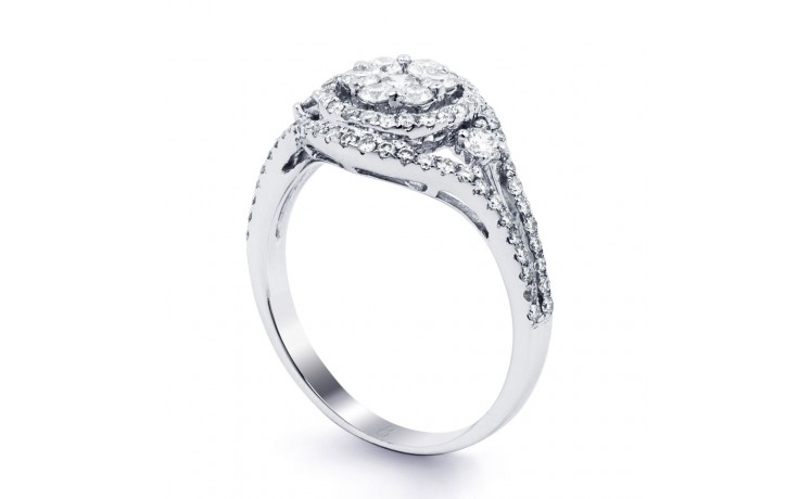 Diamond Cluster Engagement Ring product image 2