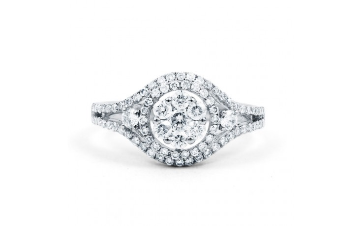 Diamond Cluster Engagement Ring product image 1