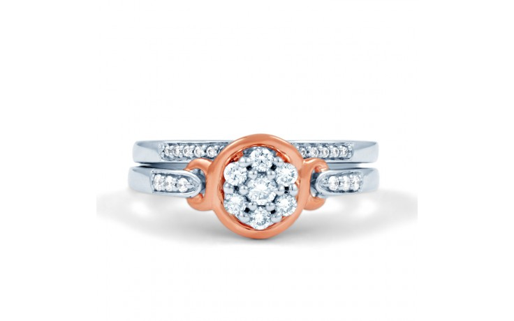 Infinity Engagement Ring with Pink Rhodium product image 1