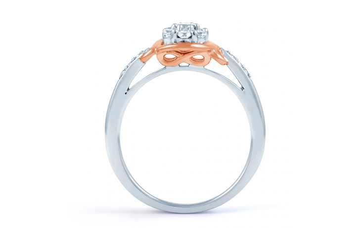 Infinity Engagement Ring with Pink Rhodium product image 6