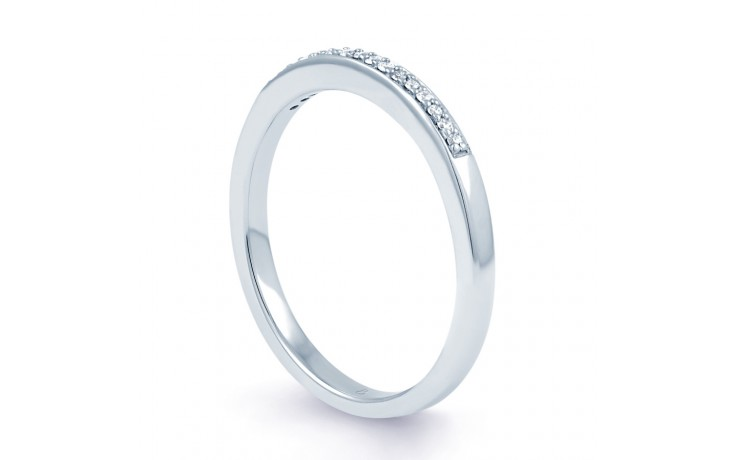 Infinity Engagement Ring with Pink Rhodium product image 5