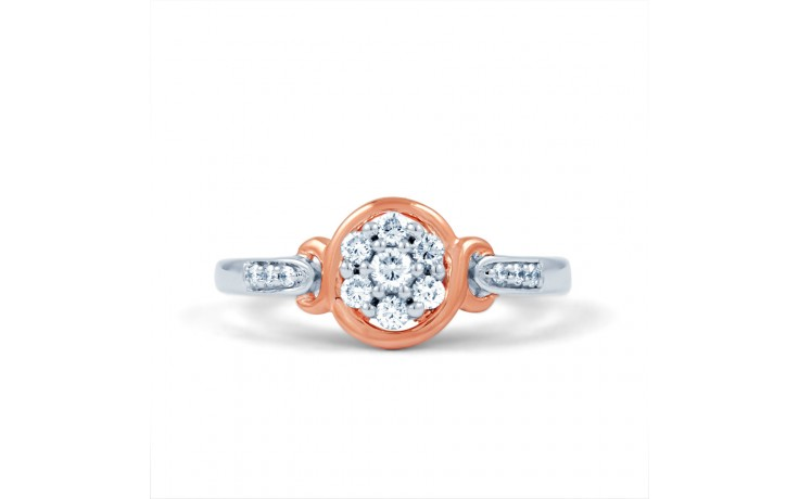 Infinity Engagement Ring with Pink Rhodium product image 2