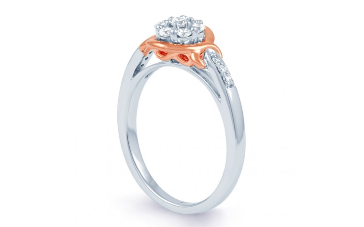 Infinity Engagement Ring with Pink Rhodium product image 3
