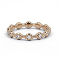 18ct Rose Gold Diamond Full Eternity Ring Band 0.36ct 3.5mm  image 0