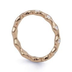 18ct Rose Gold Diamond Full Eternity Ring Band 0.36ct 3.5mm  image 1