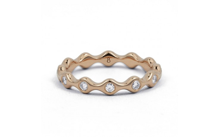 18ct Rose Gold Diamond Full Eternity Ring Band 0.36ct 3.5mm  product image 1