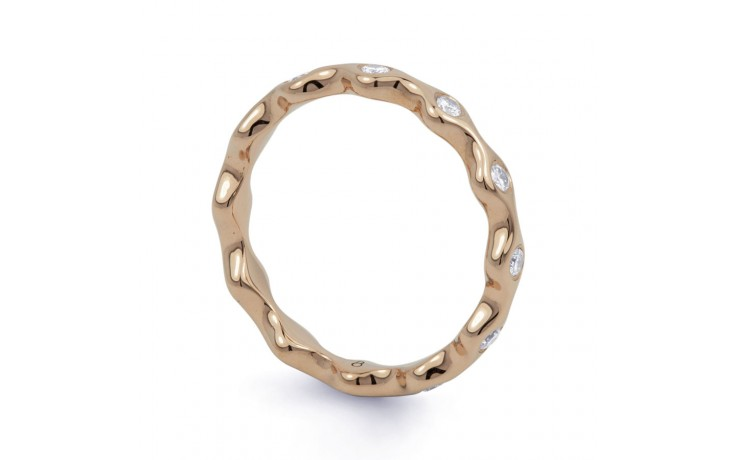 18ct Rose Gold Diamond Full Eternity Ring Band 0.36ct 3.5mm  product image 2