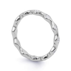 18ct White Gold Diamond Full Eternity Ring Band 0.36ct 3.5mm  image 1