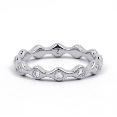 18ct White Gold Diamond Full Eternity Ring Band 0.36ct 3.5mm  image 0