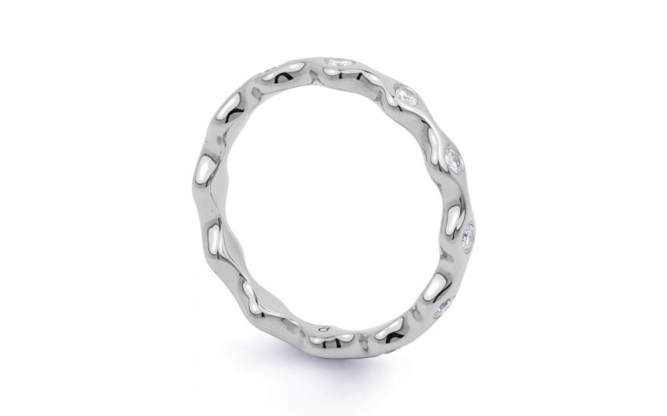18ct White Gold Diamond Full Eternity Ring Band 0.36ct 3.5mm  product image 2