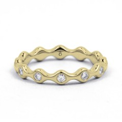 18ct Yellow Gold Diamond Full Eternity Ring Band 0.36ct 3.5mm  image 0