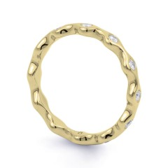 18ct Yellow Gold Diamond Full Eternity Ring Band 0.36ct 3.5mm  image 1
