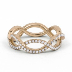18ct Rose Gold Diamond Designer Full Eternity Ring 0.55ct 6mm  image 0