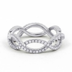 18ct White Gold Diamond Designer Full Eternity Ring 0.55ct 6mm  image 0
