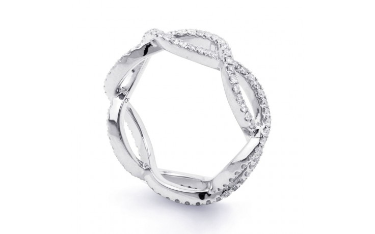 18ct White Gold Diamond Designer Full Eternity Ring 0.55ct 6mm  product image 2