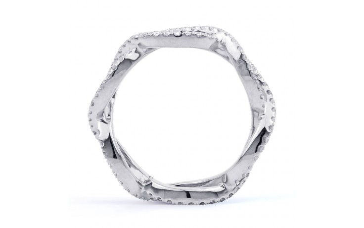 18ct White Gold Diamond Designer Full Eternity Ring 0.55ct 6mm  product image 3