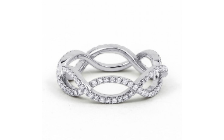 18ct White Gold Diamond Designer Full Eternity Ring 0.55ct 6mm  product image 1