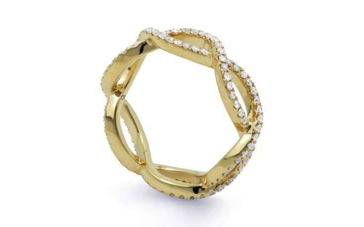 18ct Yellow Gold Diamond Designer Full Eternity Ring 0.55ct 6mm  product image 2